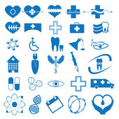 Abstract blue medical iconsset — Stock Vector