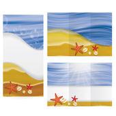 Summer tropical beach brochure — Stock Vector