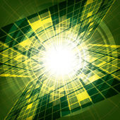 Abstract vector futuristic green background  — Stock Vector