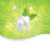 Abstract vector dental illustration of teeth — Stock Vector