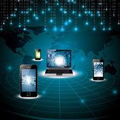 Virtual digital world concept — Stock Vector
