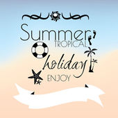 Summer tropicl holiday creative poster — Stock Vector