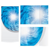 Abstract modern technology brochure background — Stockvektor