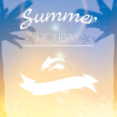 Summer holiday creative poster — Vector de stock