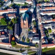 Aerial view of Opole city suburbs — Stock Photo