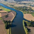 Stock Photo: River aerial view
