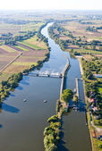 River aerial view — Stock Photo