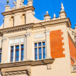Old Sukiennice (Cloth Hall) square in town Krakow Poland — Stock Photo