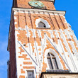 Old tower on main square in town Krakow Poland — Stock Photo #12600840