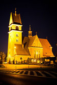 Polish church night view — Stock Photo