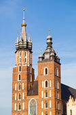 Mariacki Church. Krakow - Poland — Stock Photo