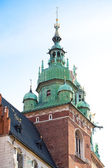 Wawel zamek wieża w mieście kraków — Zdjęcie stockowe