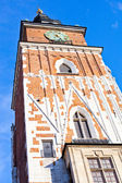 Old tower on main square in town Krakow Poland — Foto de Stock