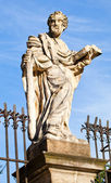 Stone statue Cracow -St. Peter's and St. Paul's Church — Foto Stock