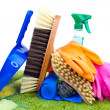 Cleaning supplies - Foto de Stock  