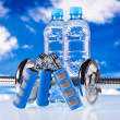 Fitness dumbbells - Stockfoto