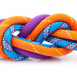 Rope knot isolated on white — Stock Photo