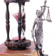Royalty-Free Stock Photo: Temida statue and law book