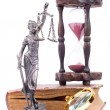 Stock Photo: Temidstatue and law book