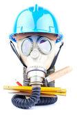Máscara de gás e ferramentas — Foto Stock
