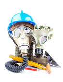 Gas maskers en hulpprogramma 's — Stockfoto