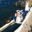 Aerial view of Checiny Castle — Stock Photo