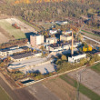 Royalty-Free Stock Photo: Aerial view of old factory in Pinczow city , Poland
