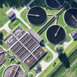 Aerial view of Opole city sewage treatment plant — Stock Photo #13920712