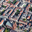 Stock Photo: Aerial view of Opole city center , Poland