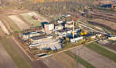Aerial view of old factory in Pinczow city , Poland — Stock Photo