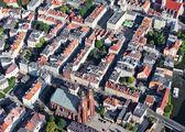 Vista aérea do centro da cidade de opole, polónia — Fotografia Stock