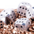 Metal dice — Stock Photo