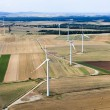 Wind turbines aerial view — Stock Photo