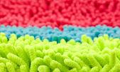 Colorful microfiber mop strands — Stock Photo