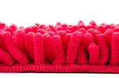 Red microfiber mop strands — Stock Photo