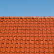 New red roof tiles — Stock Photo