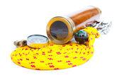 Marine rope and instruments — Stock Photo