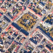 Aerial view of Pinczow town in Poland — Stock Photo