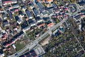 Aerial view of Pinczow town in Poland — Stock Photo