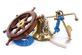 Old marine instruments — Stock Photo