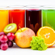 Stock Photo: Fresh juices isolated on white