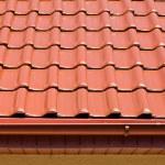 techo rojo — Foto de Stock
