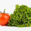 Tomato and lettuce — Stock Photo