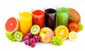 Fresh juices isolated on white — Stock Photo