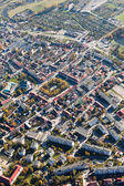 Aerial view of Pinczow town — Stock Photo