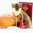 Holy bread and chalice — Stock Photo