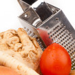 Vegetables and grater — Stock Photo