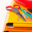 Colorful office folders and pens — Stock Photo #30297207