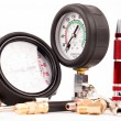 Pressure gauges and tools — Stock Photo