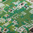 Circuit board with electronic components — Stock Photo